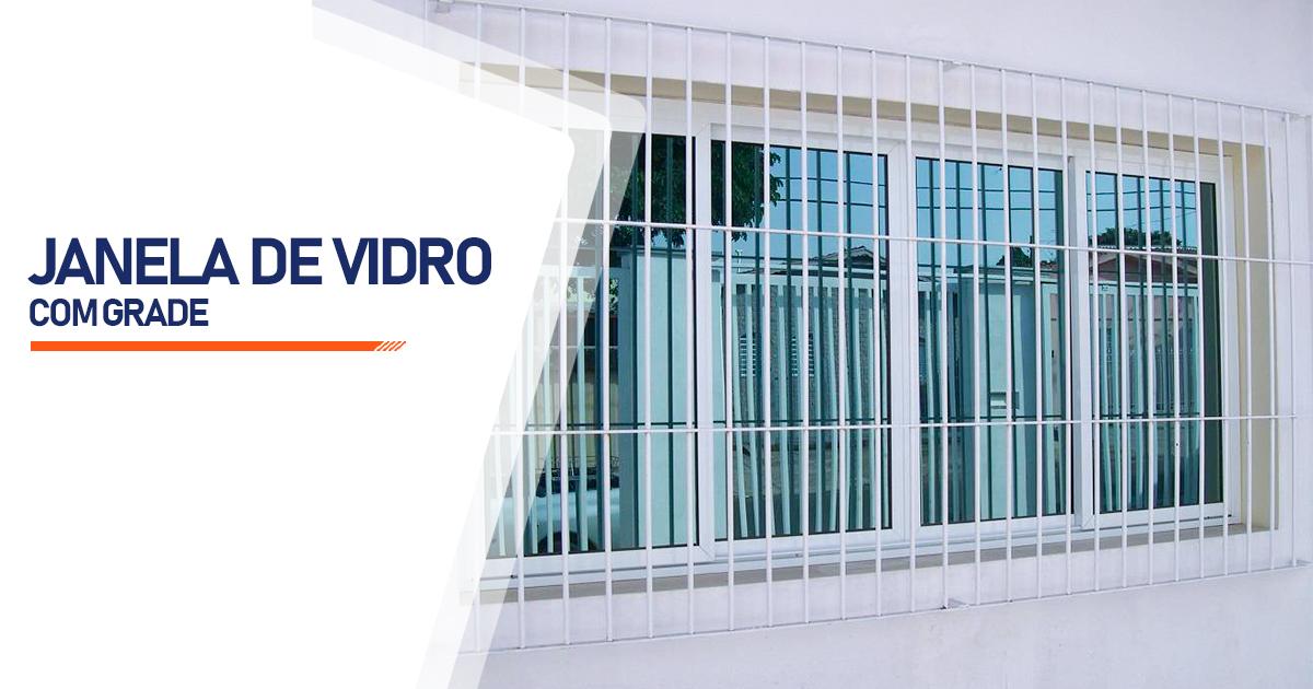 Janela De Vidro Com Grade Indaiatuba