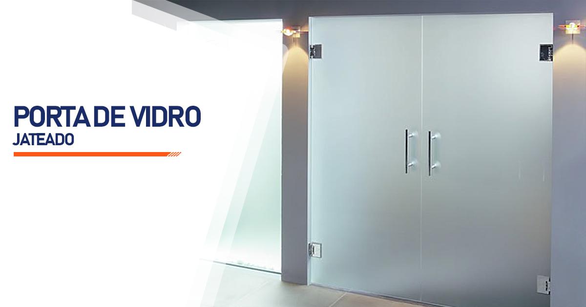 Porta De Vidro Jateado Indaiatuba